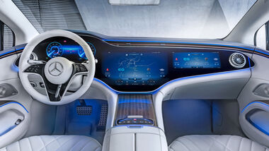 Mercedes EQS Interieur Hyperscreen