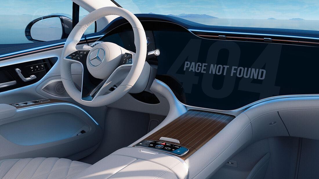 Mercedes EQS Navi Infotainment Hyperscreen 404 Error Chip Mangel
