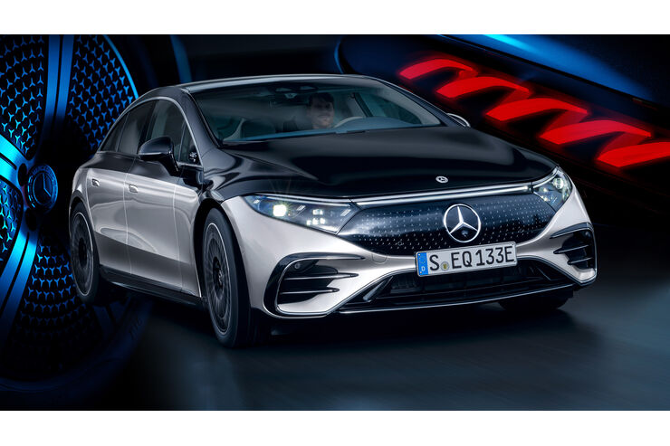 Mercedes EQS (2021): Elektro-S-Klasse schafft 770 km ...