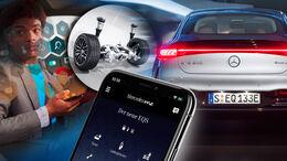 Mercedes EQS me App Hinterachslenkung Abo Extra