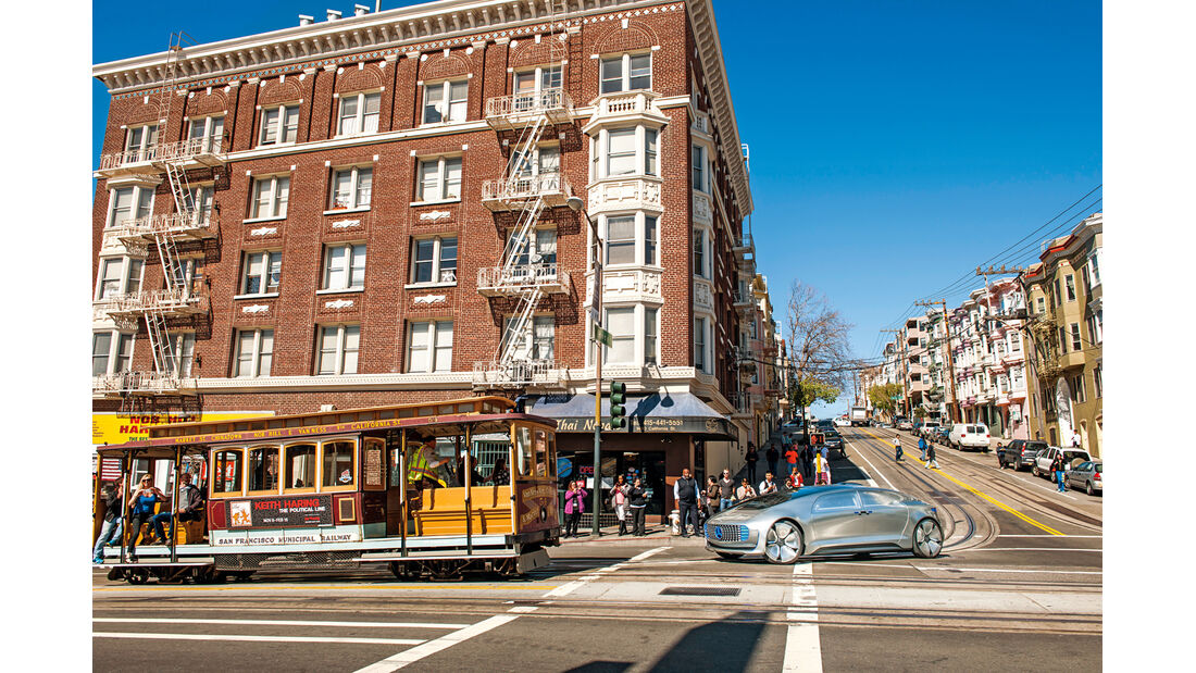 Mercedes F 015, Impression, San Francisco