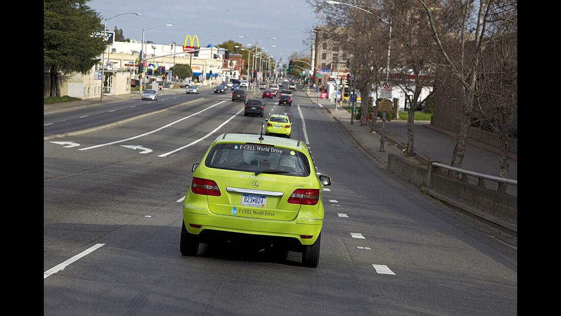Mercedes F-Cell World Drive, 24. Etappe, Saramento-Medford