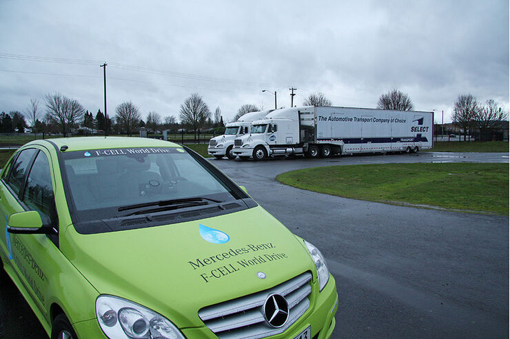 Mercedes F-Cell World Drive, 25. Etappe, Medford-Salem