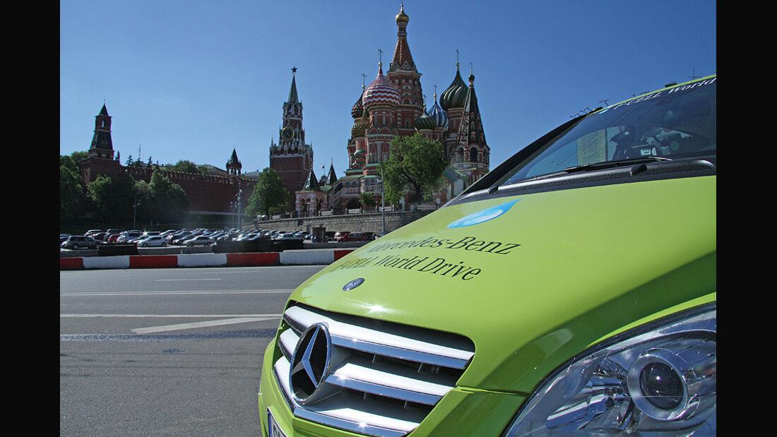 Mercedes F-Cell World Drive, B-Klasse, Brennstoffzelle, 61. Tag, Moskau - Tver