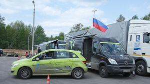 Mercedes F-Cell World Drive, B-Klasse, Brennstoffzelle, 62. Tag, Tver - Welikij Nowgorod