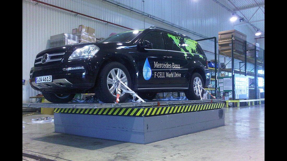 Mercedes F-Cell World Drive, Mercedes B-Klasse, Luftbrücke