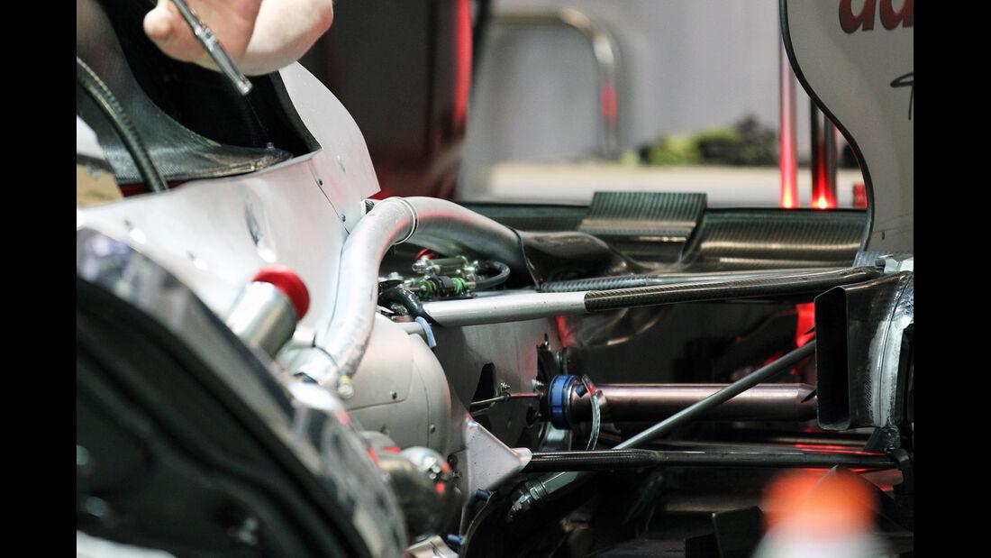Mercedes F-Schacht DRS F1-Technik GP China 2012