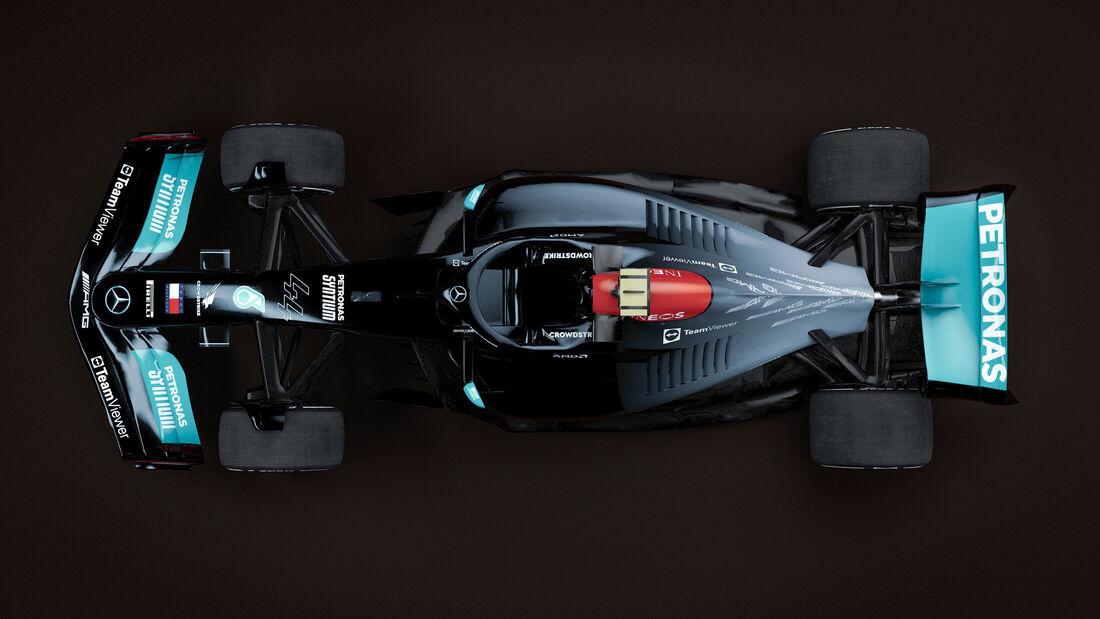 Mercedes - F1-Auto 2022 - Team-Lackierung