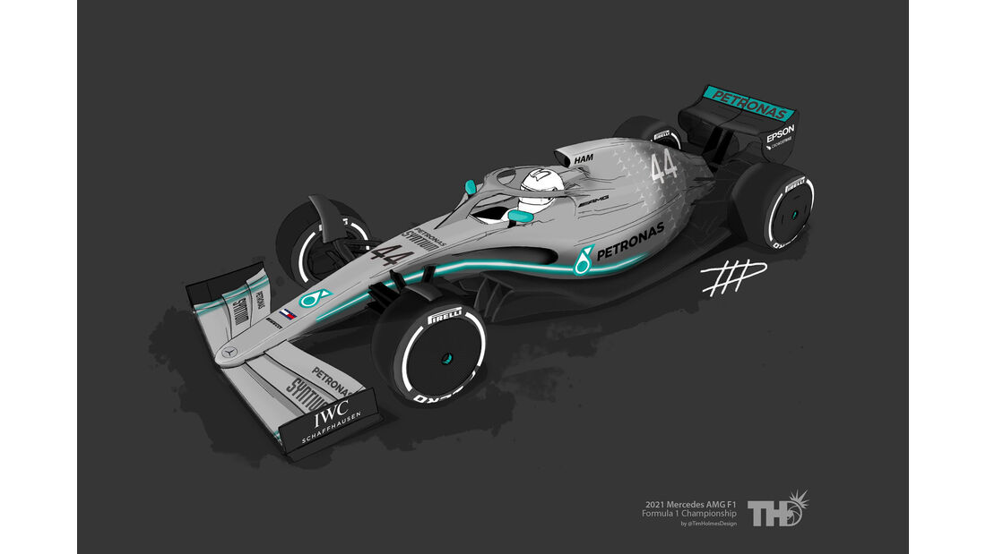 Mercedes - F1-Concept 2021 - Livery by Tim Holmes
