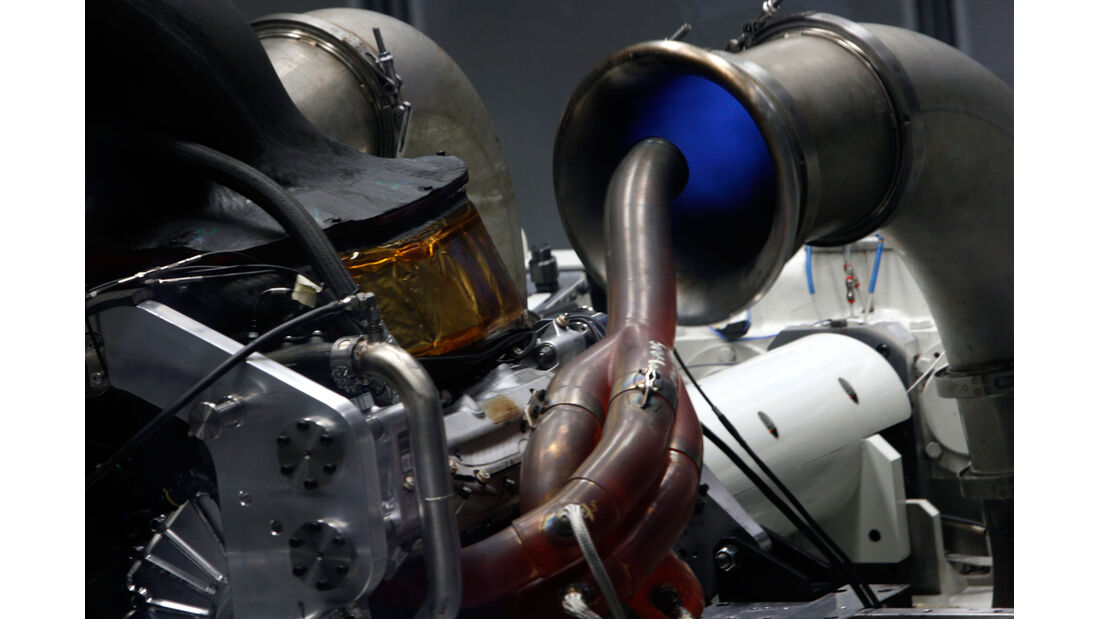 Mercedes F1 Motor Prüfstand