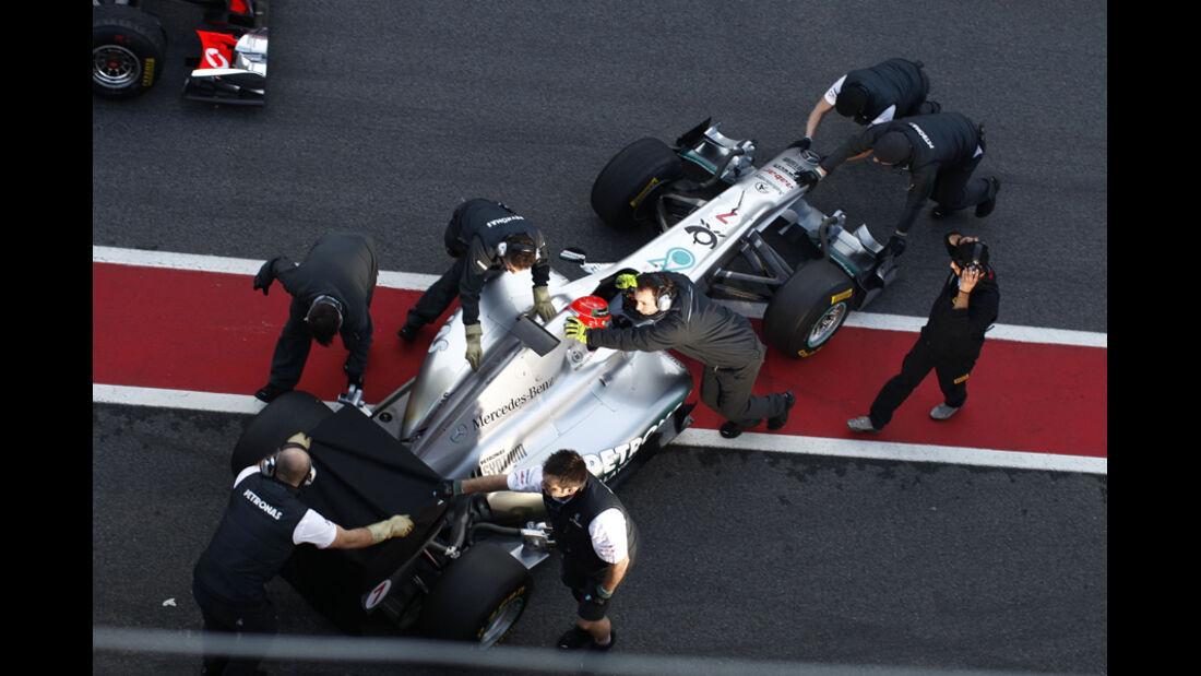 Mercedes F1-Test 2011