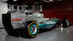 Mercedes F1 W03 Garage Test Barcelona 2012