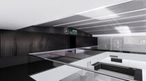Mercedes Fabrik Brackley - Race Bay - Werkstatt - Renovierung 2021