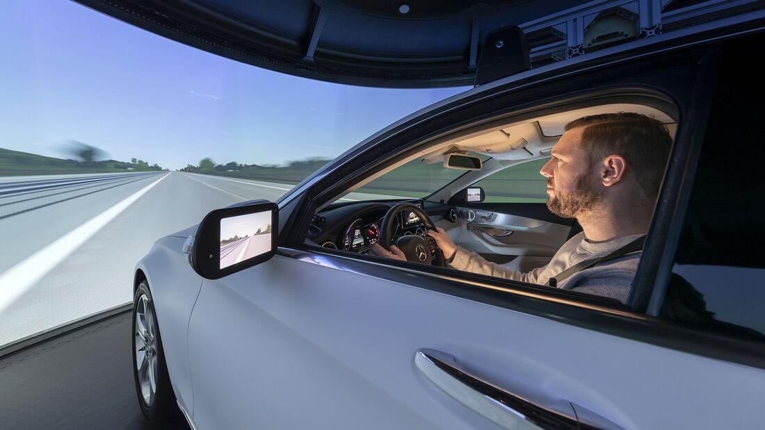 Mercedes Fahrverhaltensentwicklung, Simulator innen