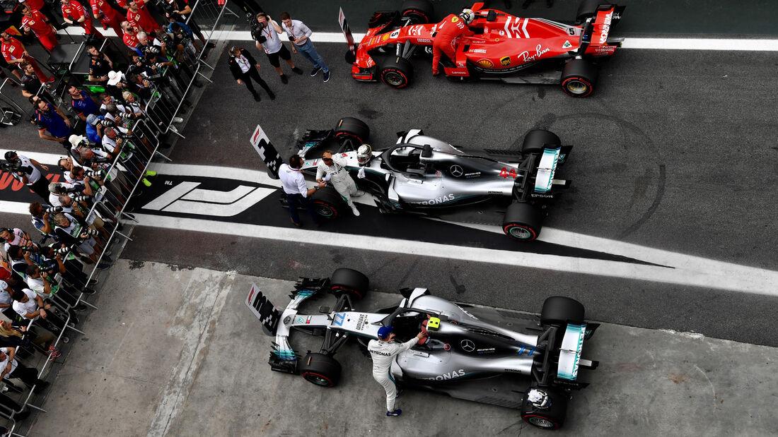 Mercedes - Ferrari - GP Brasilien - Interlagos - Formel 1 - Samstag - 10.11.2018