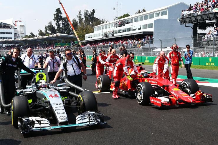 Mercedes - Ferrari - GP Mexiko 2015