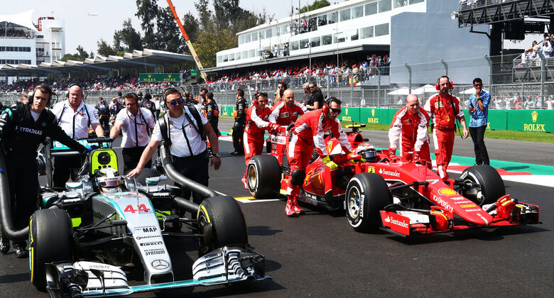 Mercedes - Ferrari - GP Mexiko 2015