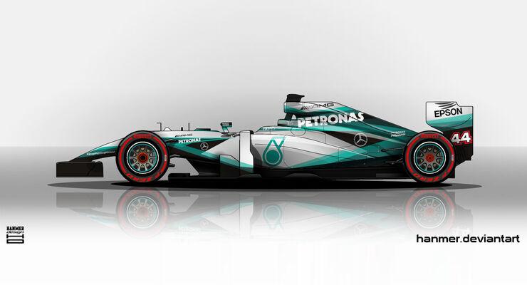Mercedes - Formel 1 - Lackierung - Design-Concept