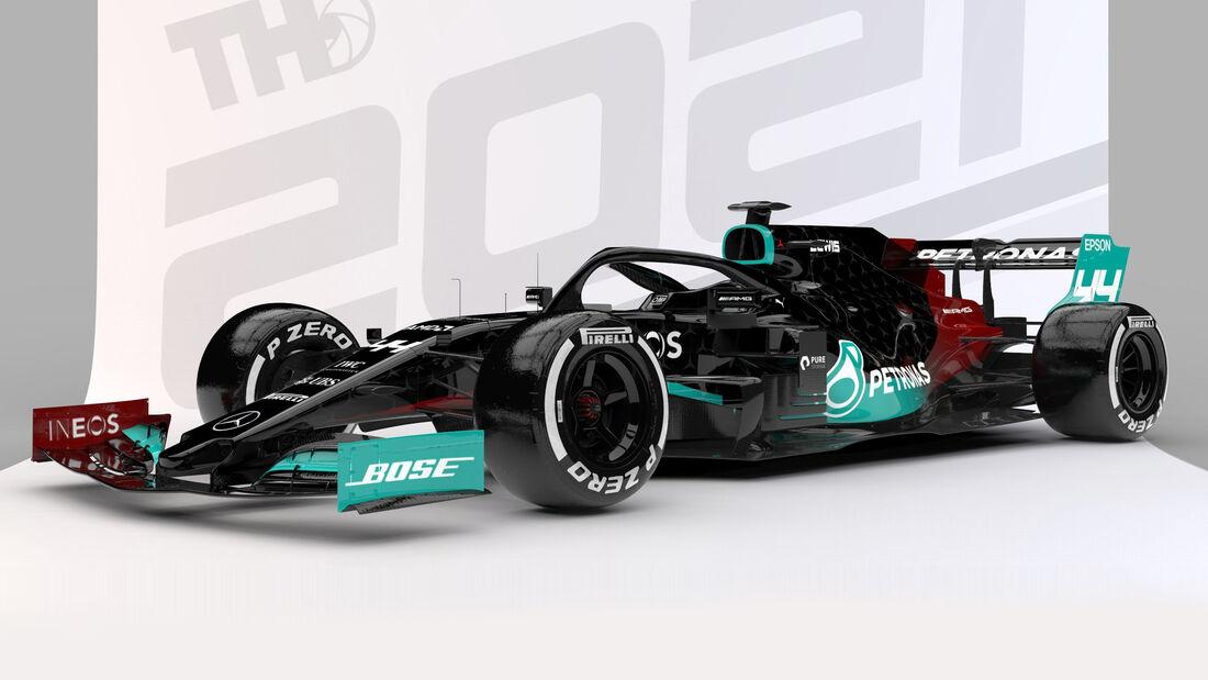 Mercedes - Formel 1 - Livery-Concept 2021 - Tim Holmes Design