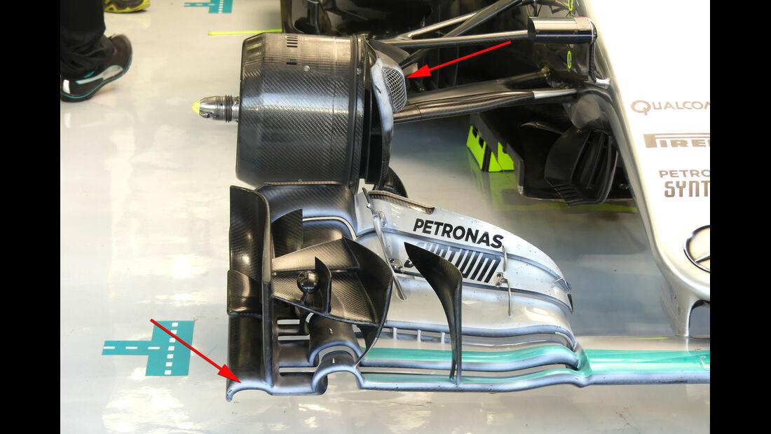 Mercedes - Formel 1 - Technik - GP Bahrain 2016