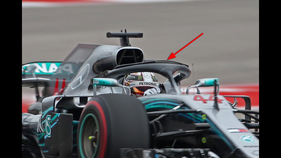 Mercedes - Formel 1 - Technik - GP Mexiko 2018