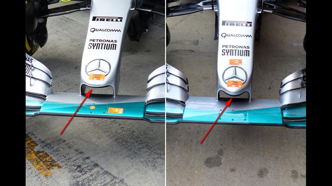 Mercedes - Formel 1-Technik - GP Österreich 2015