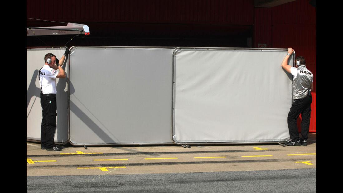 Mercedes - Formel 1-Test Barcelona - 3. März 2012