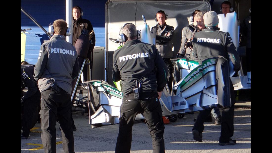 Mercedes - Formel 1 - Test - Jerez - 7. Februar 2013