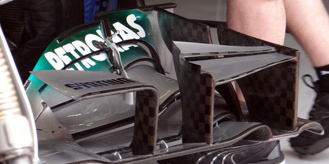 Mercedes Frontflügel - Formel 1 - GP China - 12. April 2013