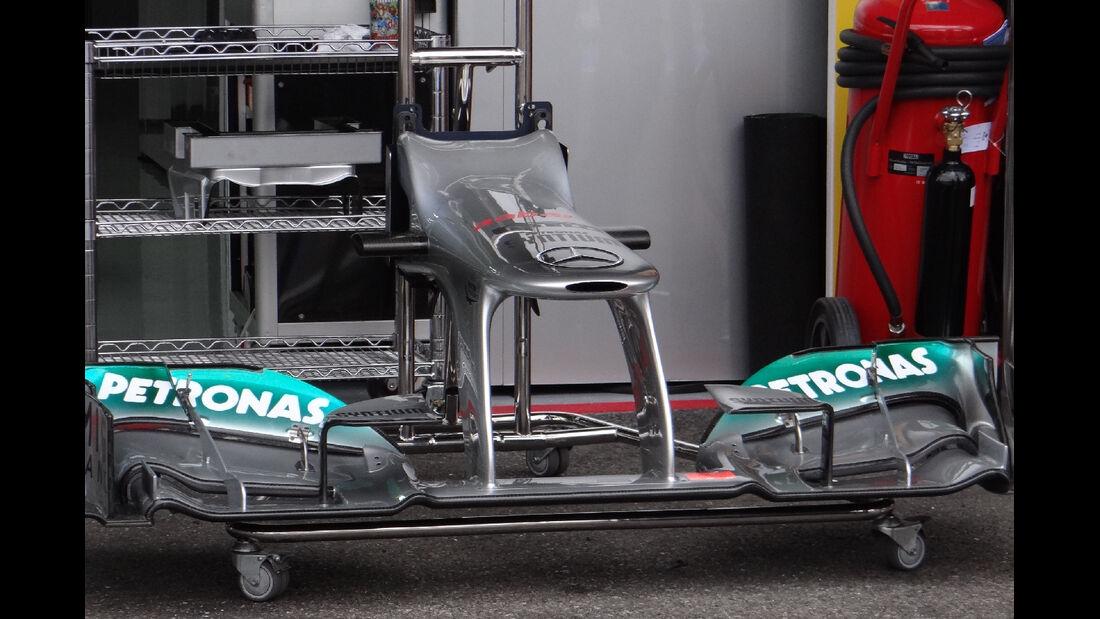 Mercedes Frontflügel - Formel 1 - GP Deutschland - 20. Juli 2012