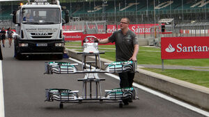 Mercedes Frontflügel - Formel 1 - GP England - 27. Juni 2013