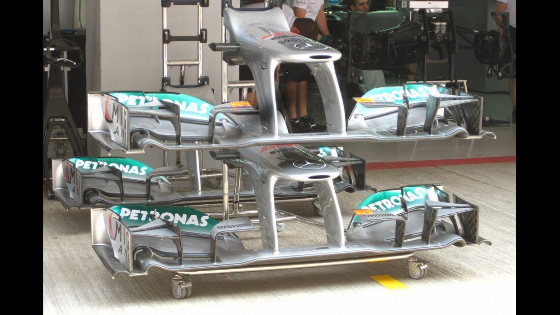 Mercedes Frontflügel  - Formel 1 - GP Indien - 25. Oktober 2012