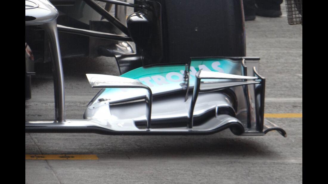 Mercedes Frontflügel - Formel 1 - GP Indien - 26. Oktober 2012