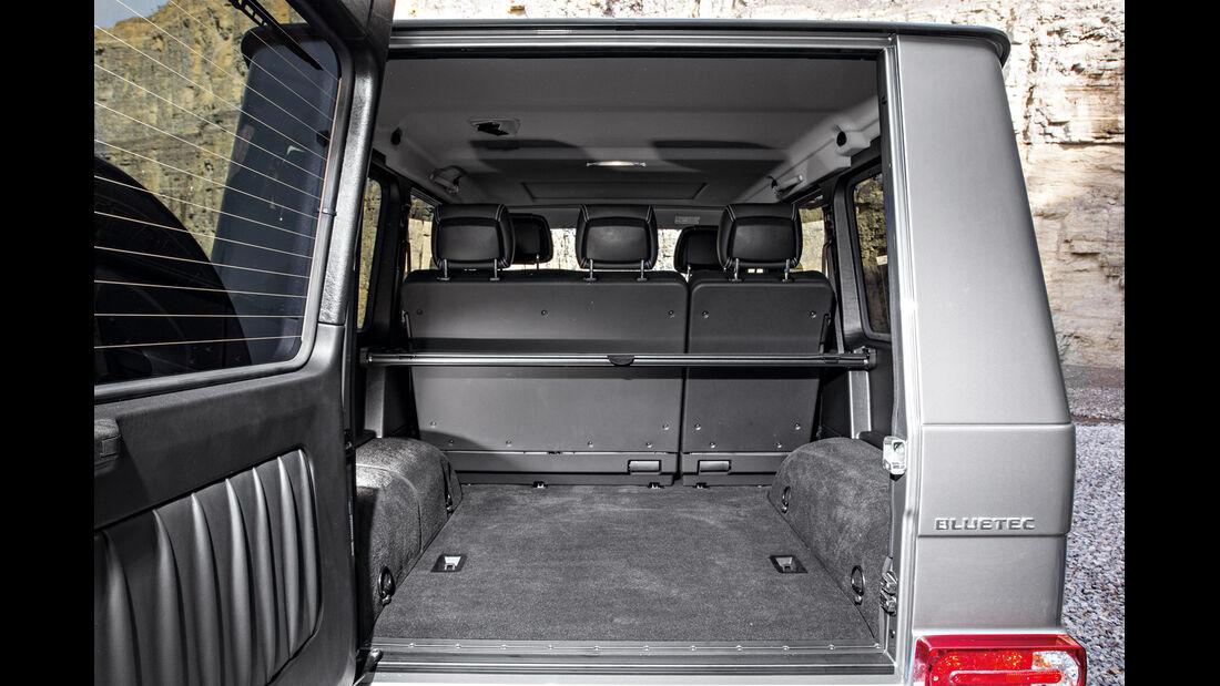 Mercedes G 350, Kofferraum, Ladefläche