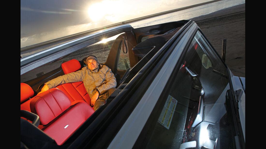Mercedes G 500 Cabrio, Cockpit, von oben