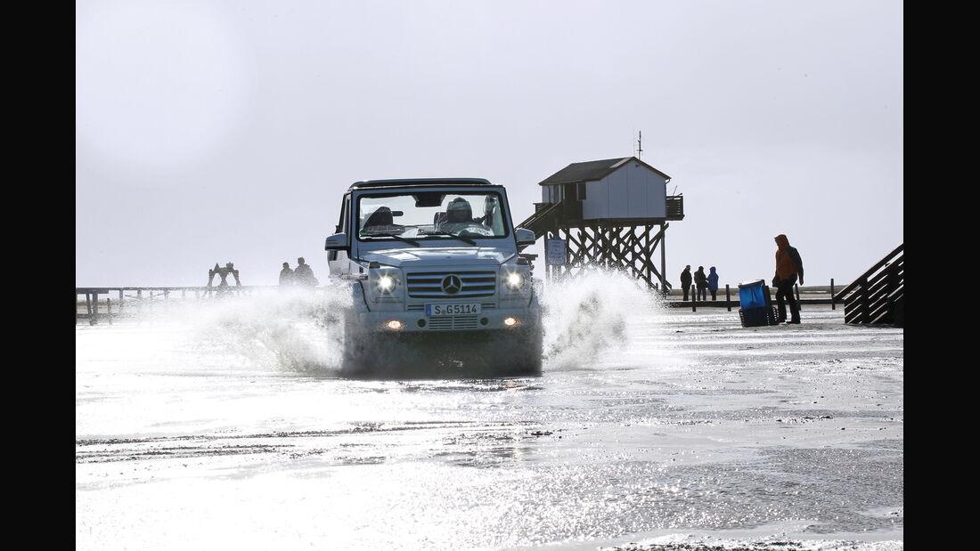 Mercedes G 500 Cabrio, Wasserdurchfahrt