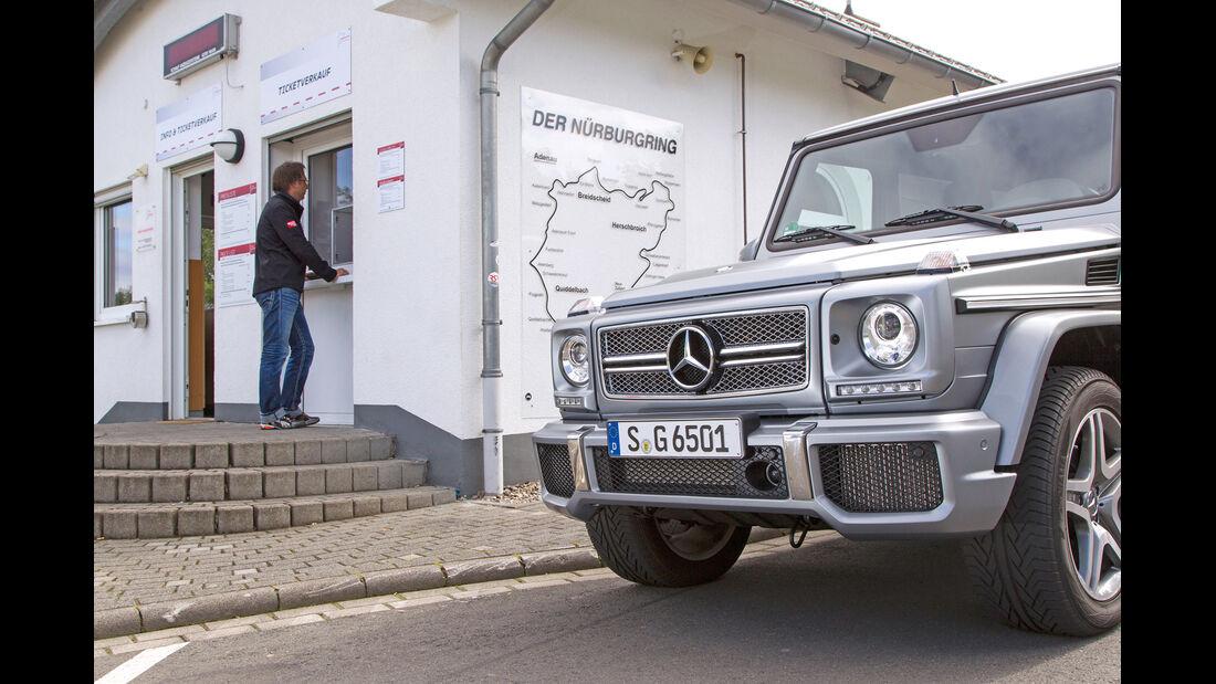 Mercedes G 65 AMG, Motorhaube, Kühlergrill