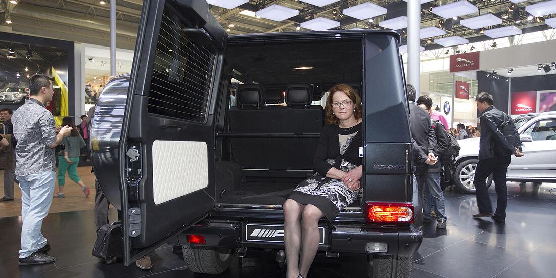 Mercedes G-Klasse Sitzprobe Birgit Priemer