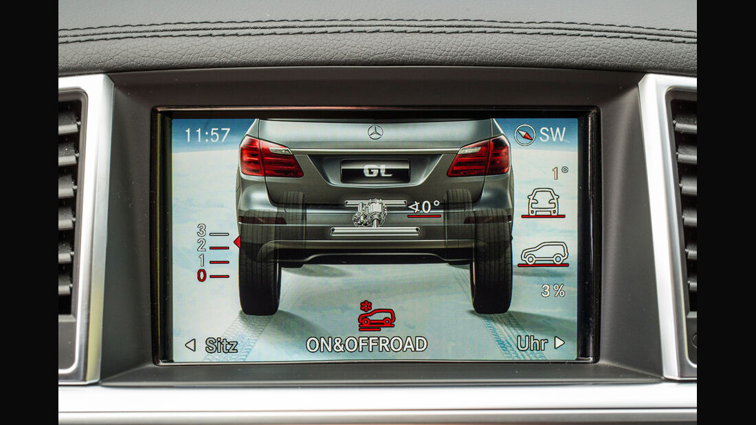 Mercedes GL, Bordcomputer, Bildschirm