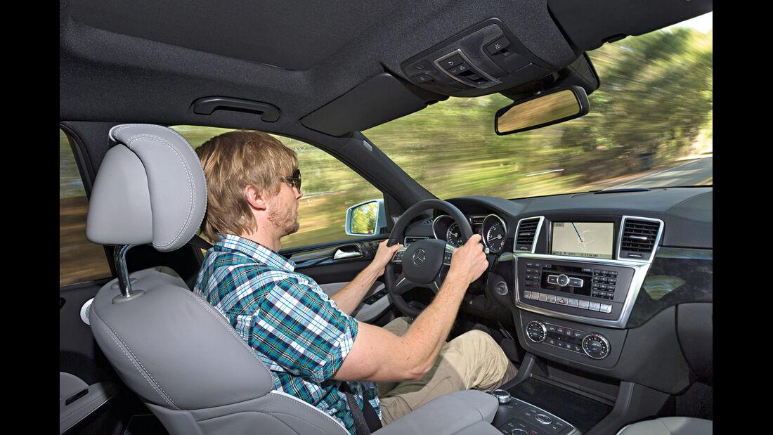 Mercedes GL, Cockpit, Lenkrad