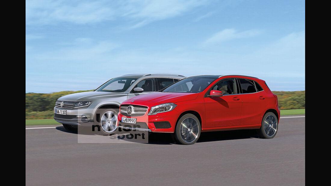 Mercedes GLA 2014, VW Tiguan 2015