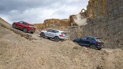 Mercedes GLA 220 d 4Matic, VW T-Roc 2.0 TDI 4Motion, Volvo XC40 D4 AWD, Exterieur