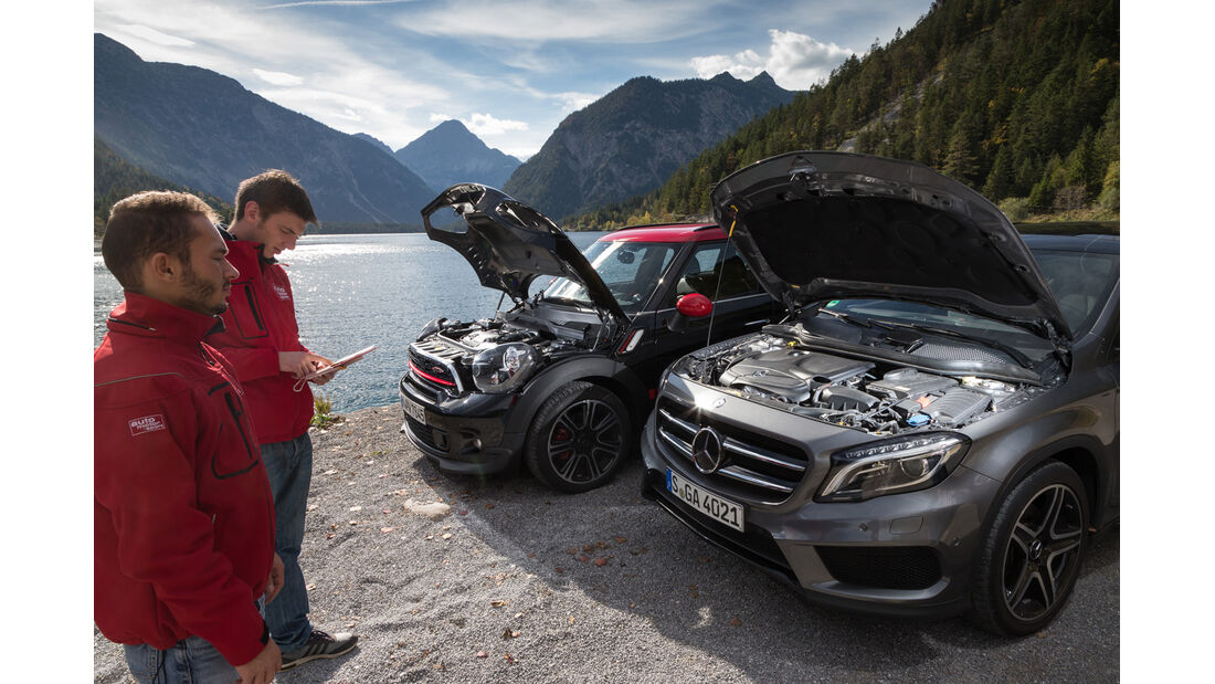 Mercedes GLA 250 4Matic, Mini Countryman JCW All4,