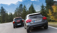 Mercedes GLA 250 4Matic, Mini Countryman JCW All4, Heckansicht
