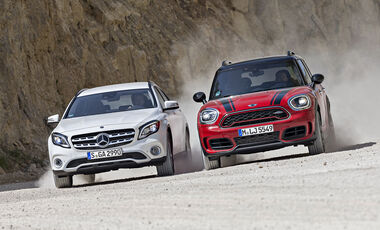 Mercedes GLA 250 4Matic Style, Mini Countryman John Cooper Works All4, Exterieur
