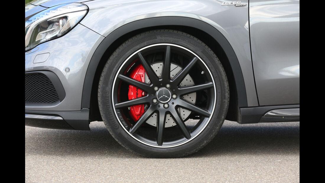 Mercedes GLA 45 AMG, Rad, Felge, Bremse
