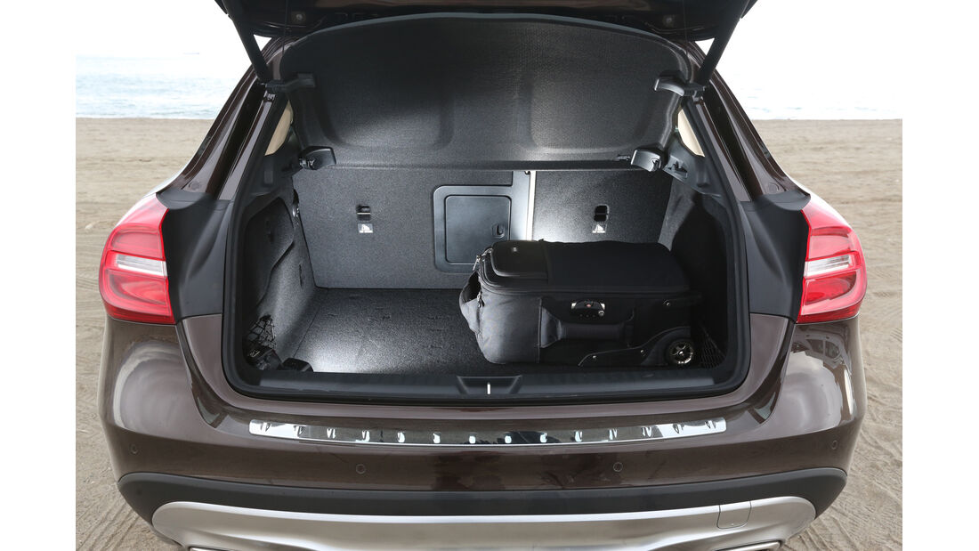 Mercedes GLA, Kofferaum