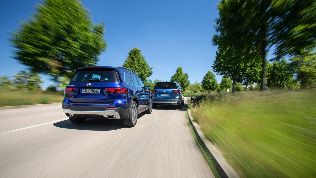 Mercedes GLB 200, VW Tiguan Allspace 1.5 TSI, Exterieur