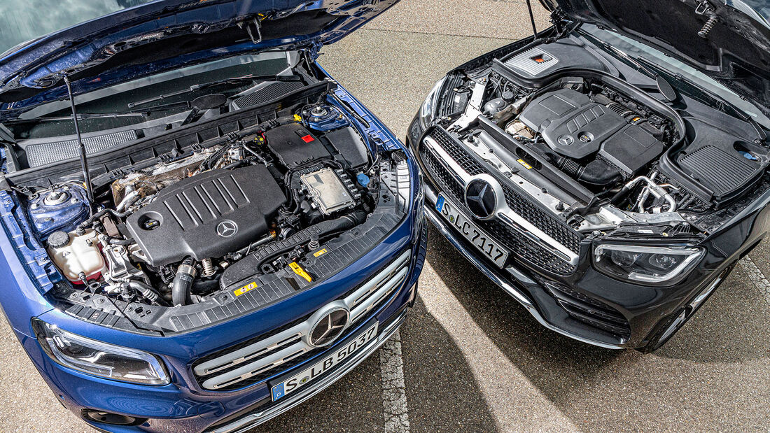Mercedes GLB 220 d 4 Matic und GLC 220 d 4Matic, Vergleichstest ams 0121