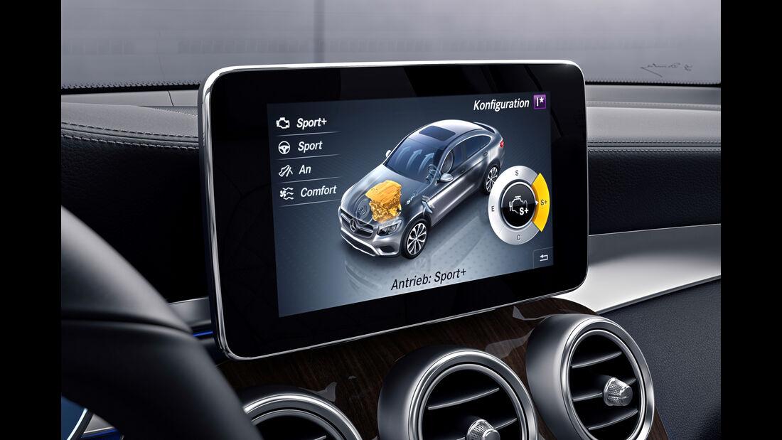 Mercedes GLC 250 d 4Matic Coupé, Monitor, Infotainment